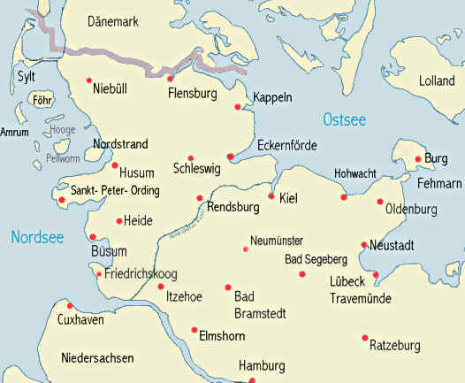 Ostsee Karte Schleswig Holstein.Ferienwohnungen Ferienhäuser Pensionen Privatzimmer In